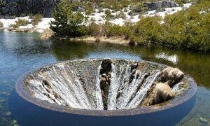 Hố nước 'không đáy' kỳ lạ ở Vườn quốc gia Serra da Estrela