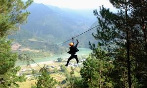 Zipline dài hơn 1 km ở Yên Bái