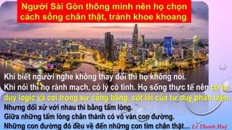 Bạn biết rõ Sài Gòn, tôi thì cảm nhận - Bút ký của Lê Thanh Huệ