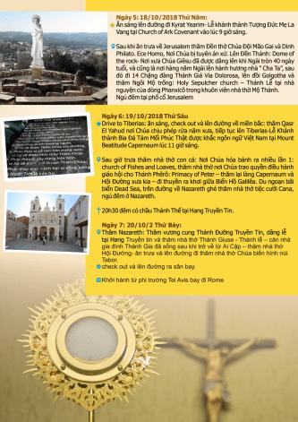 Hành Hương Israel – Italy: Cung hiến tượng Đức Mẹ La Vang và Kinh Bát Phúc (dành cho linh mục)