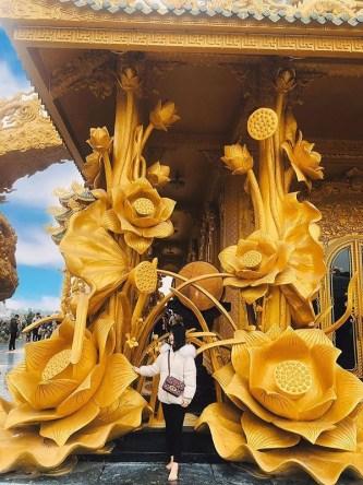 """Ngôi chùa """"dát vàng"""" được mệnh danh """"chùa vàng Thái Lan"""" ở Việt Nam"""
