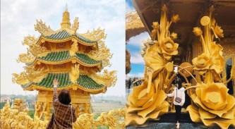 """Chùa Phúc Lâm: Ngôi chùa dát vàng đẹp nhất Hưng Yên, được mệnh danh là Thái Lan """"thu nhỏ"""""""