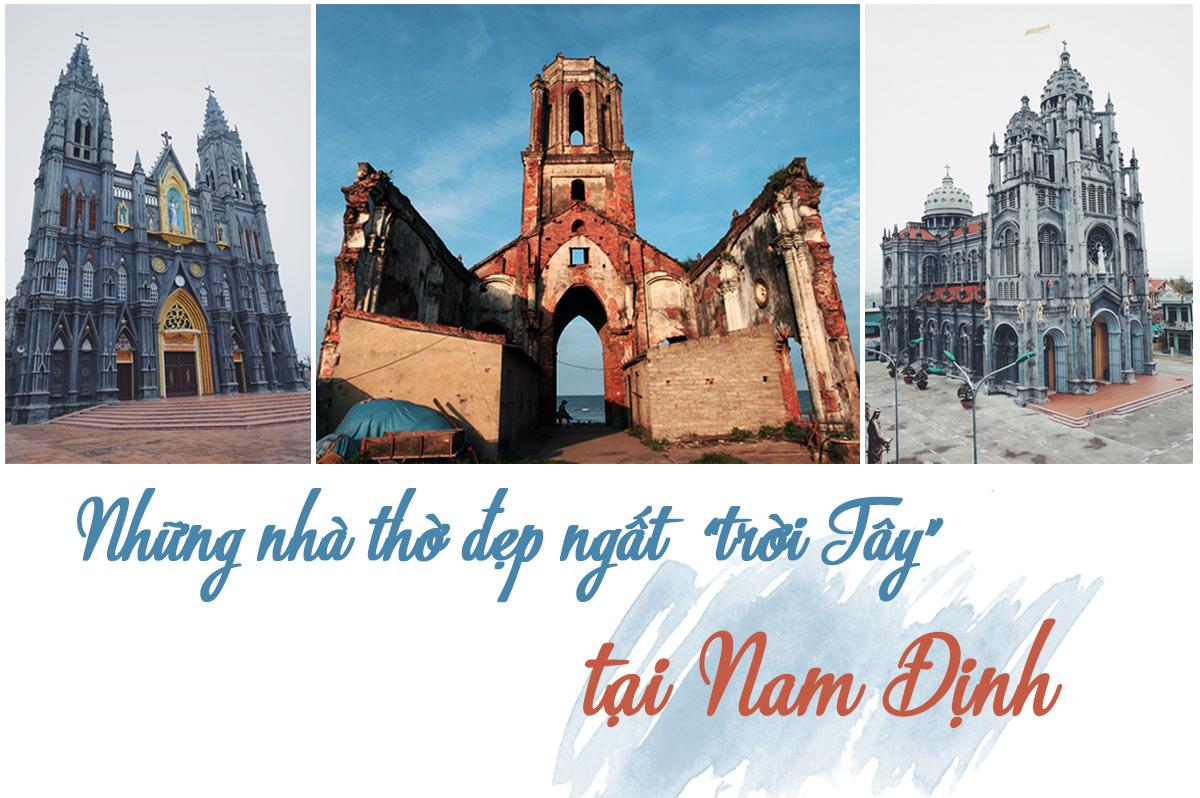 Vẻ đẹp hoang sơ của nhà thờ đổ Nam Định